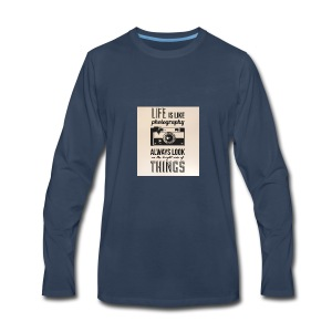 Life is like font b photography - Men's Premium Long Sleeve T-Shirt