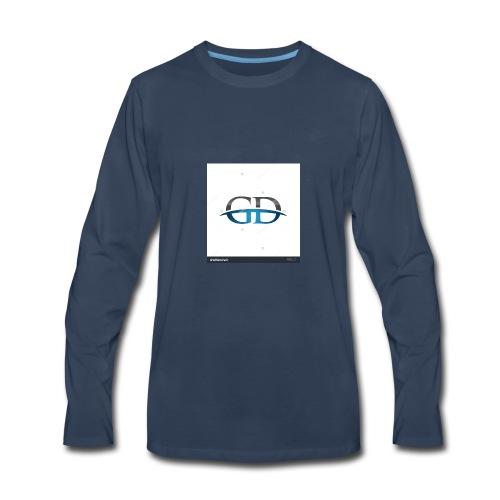 stock vector gd initial company blue swoosh logo 3 - Men's Premium Long Sleeve T-Shirt