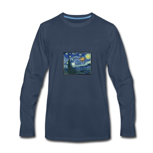 Starry Night Drone - Men's Premium Long Sleeve T-Shirt