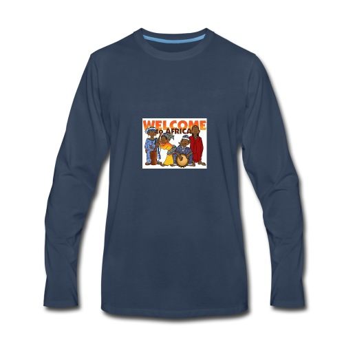 african welcome you - Men's Premium Long Sleeve T-Shirt