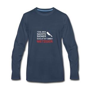 schlafmiteinemmetzger2 - Men's Premium Long Sleeve T-Shirt