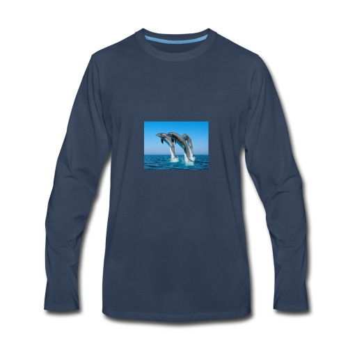 Dolphin Brand - Men's Premium Long Sleeve T-Shirt