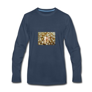 golden pearls - Men's Premium Long Sleeve T-Shirt
