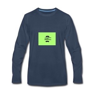 I Am Wearing A Caleb Merchandise - Men's Premium Long Sleeve T-Shirt