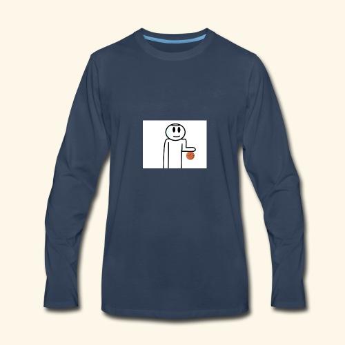 Dribbling a Basketball - Men's Premium Long Sleeve T-Shirt