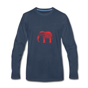The Red Elephants Official Logo - Men's Premium Long Sleeve T-Shirt
