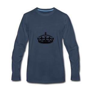 KEEP CALM CROWN - Men's Premium Long Sleeve T-Shirt