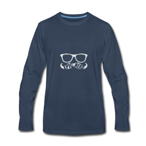 White Epic Nerd Logo - Men's Premium Long Sleeve T-Shirt