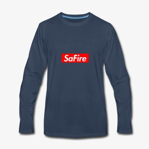 SaFire box logo tee - Men's Premium Long Sleeve T-Shirt