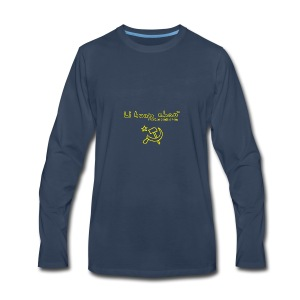 Full Li Huan Chao Logo Black+Yellow - Men's Premium Long Sleeve T-Shirt