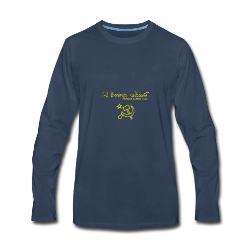 Full Li Huan Chao Logo Black+Yellow - Men's Premium Long Sleeve T-Shirt