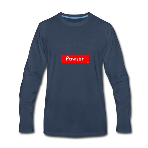 Pawser Logo SUPREME Style - Men's Premium Long Sleeve T-Shirt