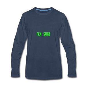 Gooey Lime Green FLX SUKI Logo - Men's Premium Long Sleeve T-Shirt