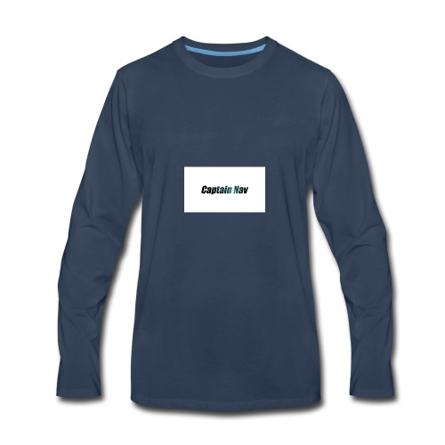 Captain Nav Logo - Men's Premium Long Sleeve T-Shirt