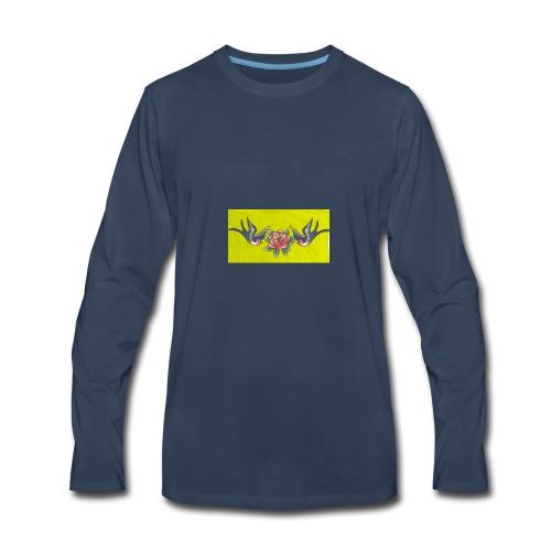 Roses birds - Men's Premium Long Sleeve T-Shirt