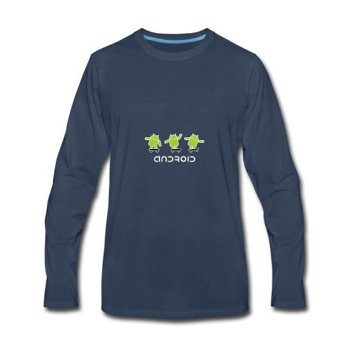 android logo T shirt - Men's Premium Long Sleeve T-Shirt