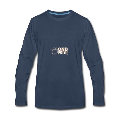 logo potet liggende - Men's Premium Long Sleeve T-Shirt