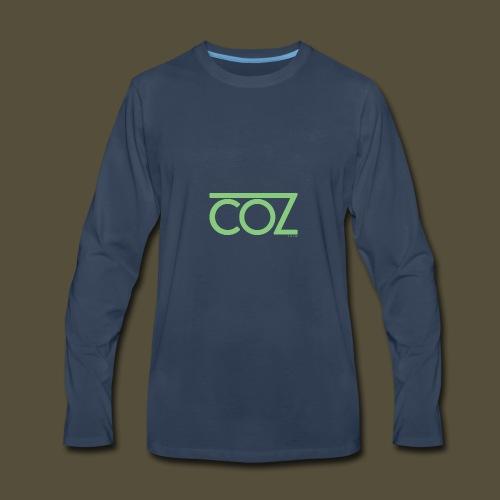 coz_logo_lightgreen - Men's Premium Long Sleeve T-Shirt