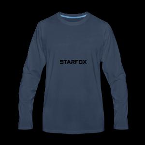 STARFOX Text - Men's Premium Long Sleeve T-Shirt