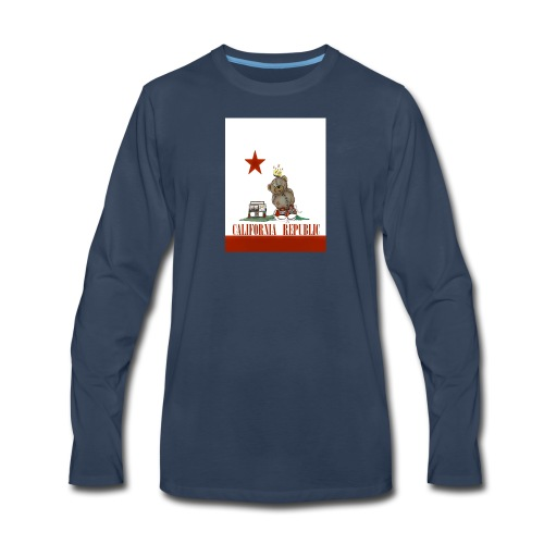 Lucky Number7 California Teddy NO Gunja Leaf - Men's Premium Long Sleeve T-Shirt