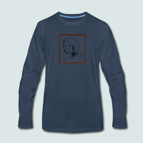 Self-portrait of Hye Rin Woo - Men's Premium Long Sleeve T-Shirt