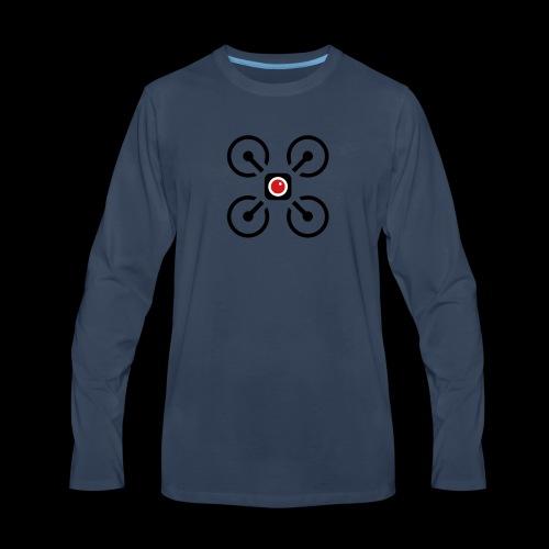 Drone Art Logo Black - Men's Premium Long Sleeve T-Shirt