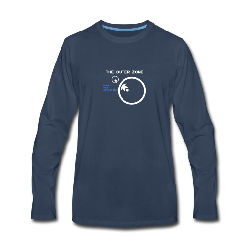 The Outer Zone Logo White - Men's Premium Long Sleeve T-Shirt