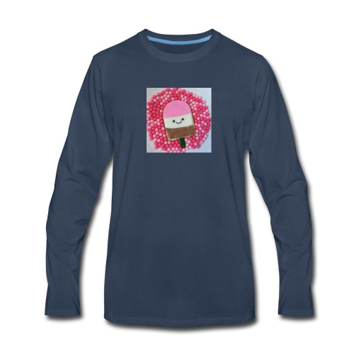 Kawaii ice cream cookies - Men's Premium Long Sleeve T-Shirt