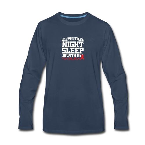 Feel safe at night, sleep with a Samurai - Men's Premium Long Sleeve T-Shirt
