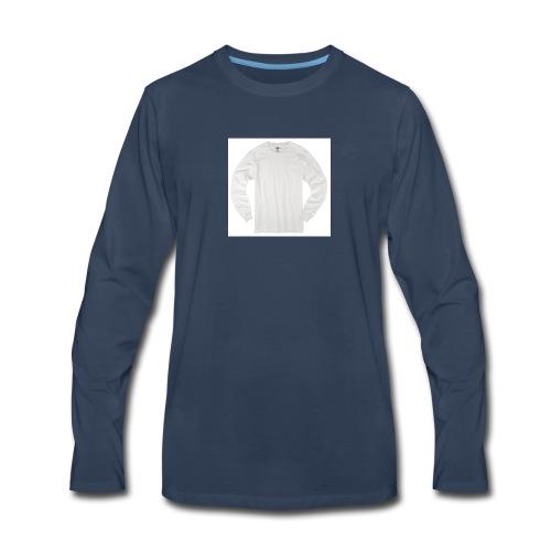 ALL WHITE - Men's Premium Long Sleeve T-Shirt