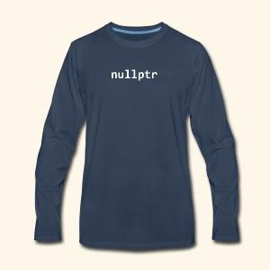 Null pointer (C++) - Men's Premium Long Sleeve T-Shirt