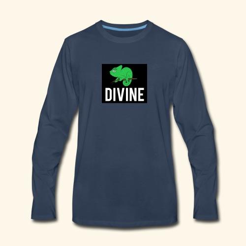 DIVINE - LIZARD DIVINE LETTERING - Men's Premium Long Sleeve T-Shirt