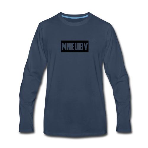 Mneuby Text Logo - Men's Premium Long Sleeve T-Shirt