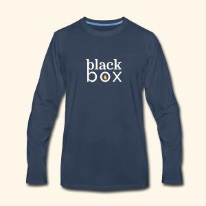 Black Box Logo Gold Drop White Text - Men's Premium Long Sleeve T-Shirt