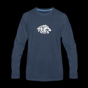 lion white - Men's Premium Long Sleeve T-Shirt