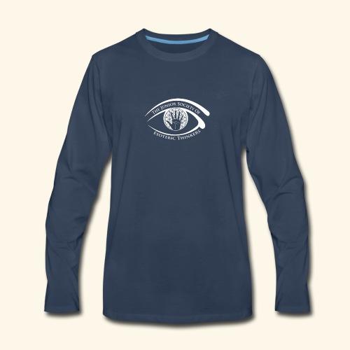 Society of Esoteric Thinkers white logo - Men's Premium Long Sleeve T-Shirt