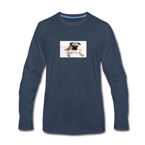 be a super pug savage merch - Men's Premium Long Sleeve T-Shirt