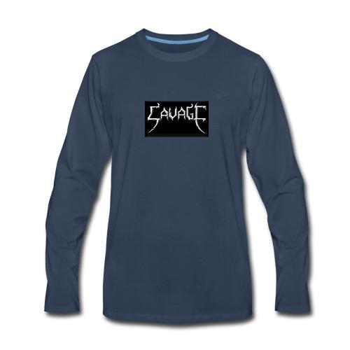 Savage print - Men's Premium Long Sleeve T-Shirt