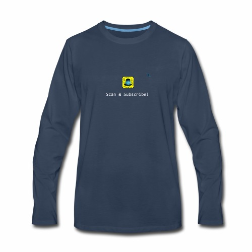 Scan & Subscribe - Men's Premium Long Sleeve T-Shirt