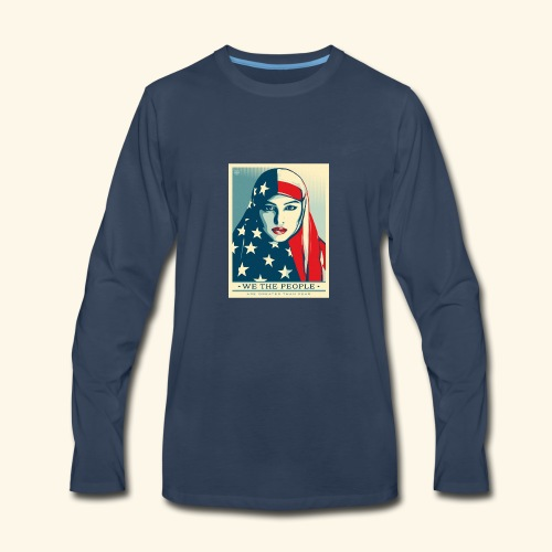 We the people are greater than fear - Men's Premium Long Sleeve T-Shirt