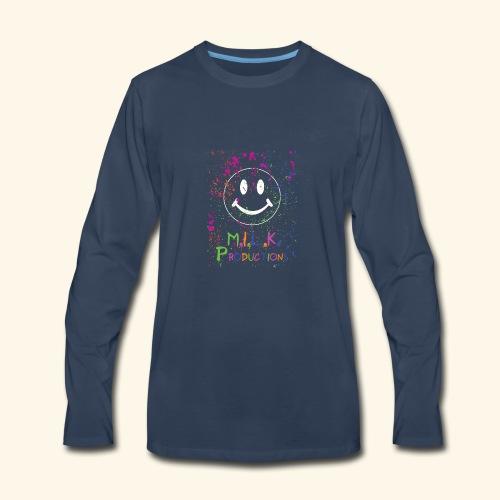 M.I.L.K. Color Splatter T-Shirt - Men's Premium Long Sleeve T-Shirt