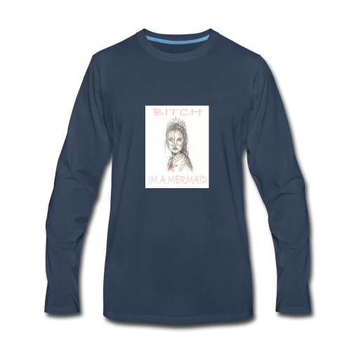 MermaidDeisgn_#1 - Men's Premium Long Sleeve T-Shirt