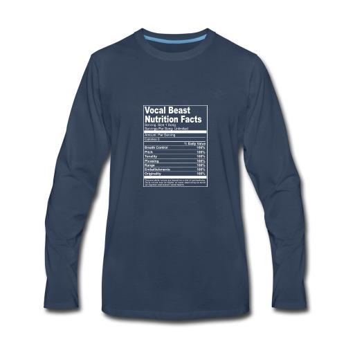 Vocal Nutrition White on Blk Streetwear - Men's Premium Long Sleeve T-Shirt