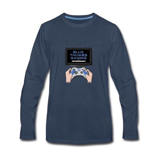 Blue Thumbs Gaming: Gamepad Logo - Men's Premium Long Sleeve T-Shirt