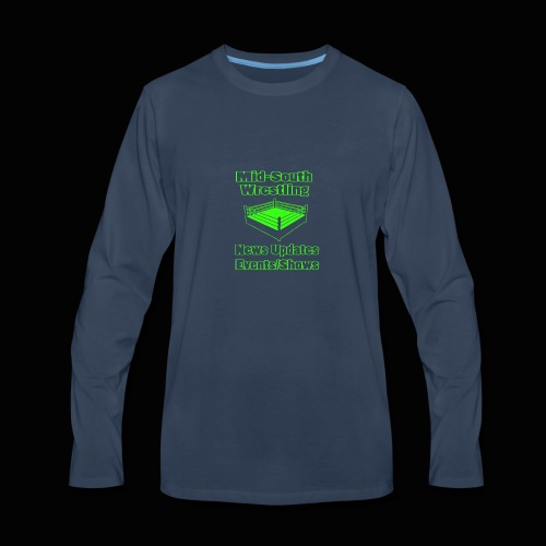Mid-South Wrestling News Neon/Lime Green - Men's Premium Long Sleeve T-Shirt