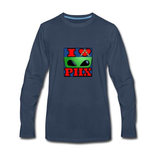I Love Phoenix, Alien - Men's Premium Long Sleeve T-Shirt