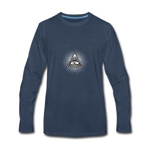 illuminati All Seeing Eye Food Humor Fun pyramid - Men's Premium Long Sleeve T-Shirt