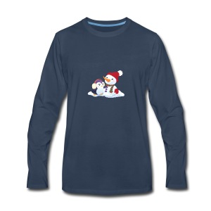 Penguin & Snowman Winter Friends - Men's Premium Long Sleeve T-Shirt