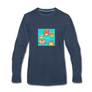 Cute owls - Men's Premium Long Sleeve T-Shirt