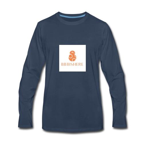 bb8ishere logo - Men's Premium Long Sleeve T-Shirt